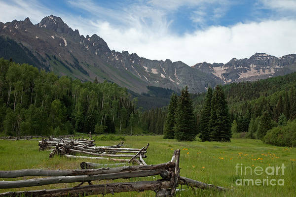 Photograph - Mount Sneffels Range And Snake Or Zig-zag Fence In East Dallas Creek by Fred Stearns