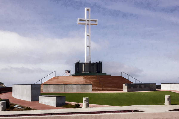 Mount Soledad Wall Art - Digital Art - Mount Soledad by Photographic Art by Russel Ray Photos