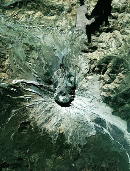 Active Volcano Photograph - Mount St Helens Volcano by Geoeye/science Photo Library