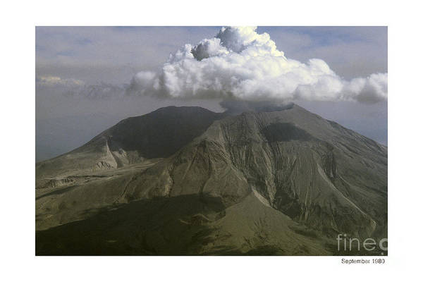 Photograph - Mount St. Helens Volcano Washington 1980 by California Views Archives Mr Pat Hathaway Archives
