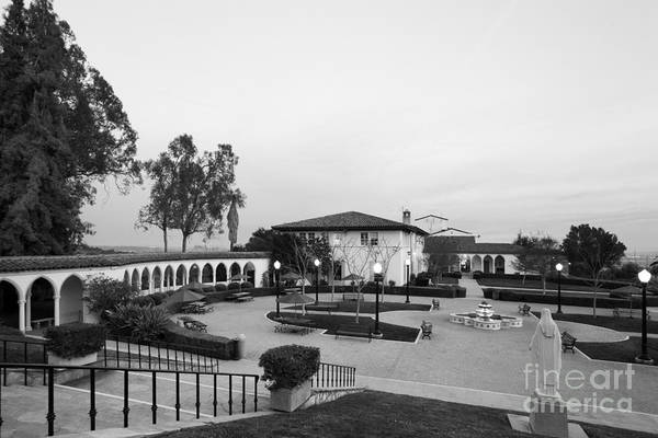 California Mission Photograph - Mount St. Mary's University The Colonnade by University Icons
