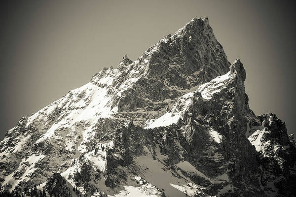 Untamed Photograph - Mount Teewinot In Winter, Grand Teton by Russ Bishop