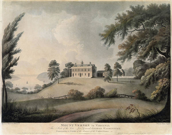Painting - Mount Vernon, 1800 by Granger