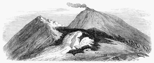 Lava Drawing - Mount Vesuvius, 1859 by Granger