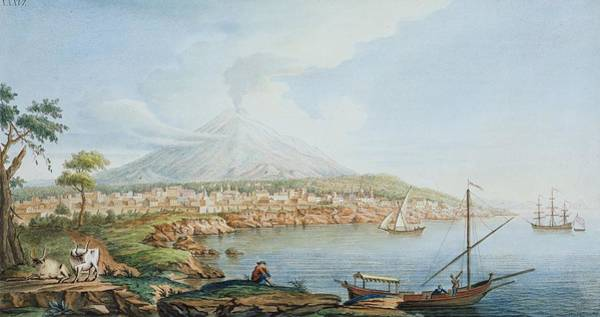 Several Wall Art - Drawing - Mount Vesuvius, Plate 36 From Campi by Pietro Fabris