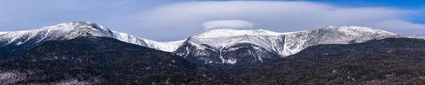 Mount Washington And The Ravines Winter Pano Art Print
