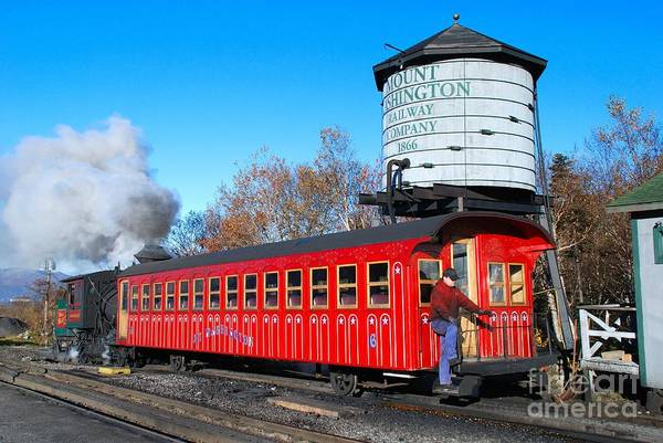 Photograph - Mount Washington Cog Railway Car 6 by Debbie Stahre