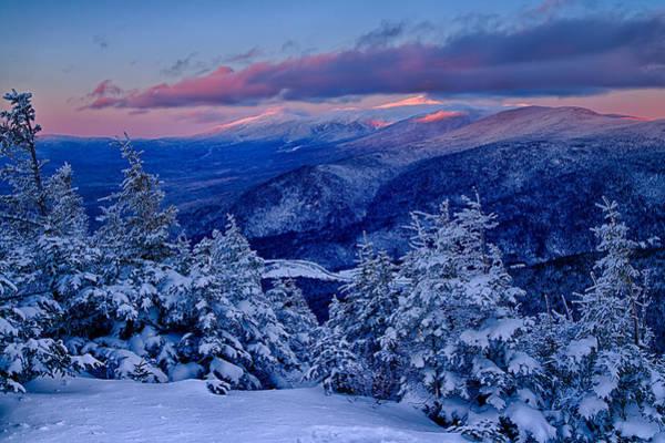 Mount Washington In The Evening Light From Mt Avalon Art Print