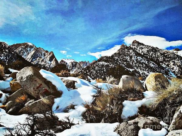 Mounted Digital Art - Mount Whitney Vista by Glenn McCarthy Art and Photography