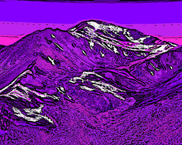 Mounted Digital Art - Mount Yale - Colorado by David G Paul
