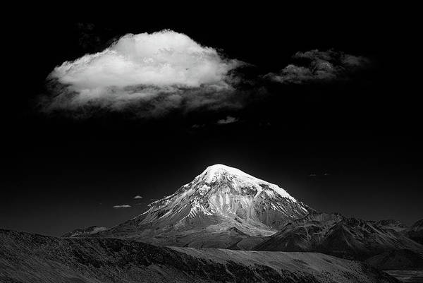 Contrast Wall Art - Photograph - Mountain And Cloud by Alan Mcnair