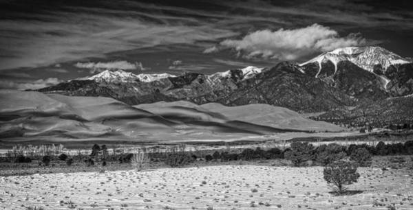 Photograph - Mountain And Dunes by David Waldrop