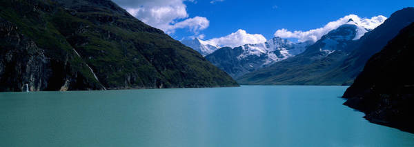 Peacefulness Photograph - Mountain At The Lakeside, Grande by Panoramic Images