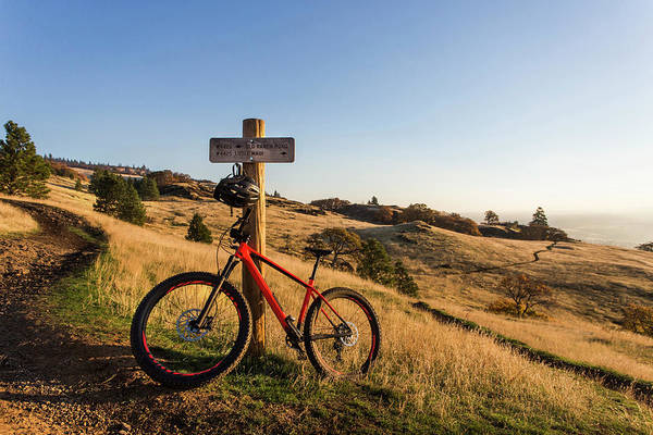Wall Art - Photograph - Mountain Bike Leaning Against Road by Modoc Stories