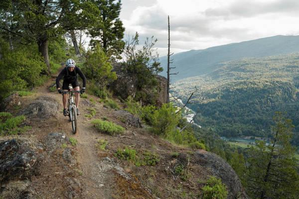 Indio Photograph - Mountain Biking In Patagonia by Marcos Ferro