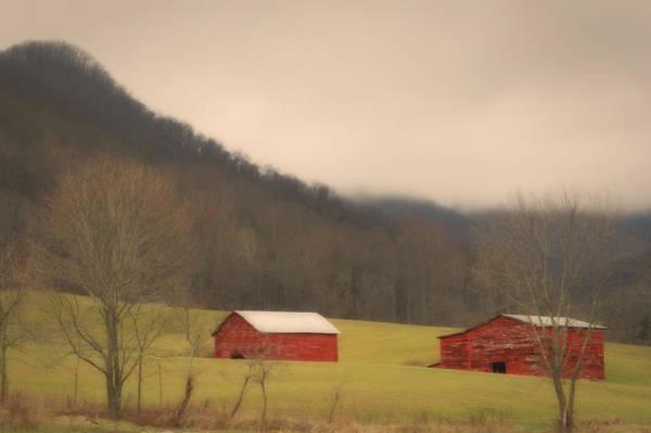 Photograph - Mountain Farm Misty Morning by Ben Shields