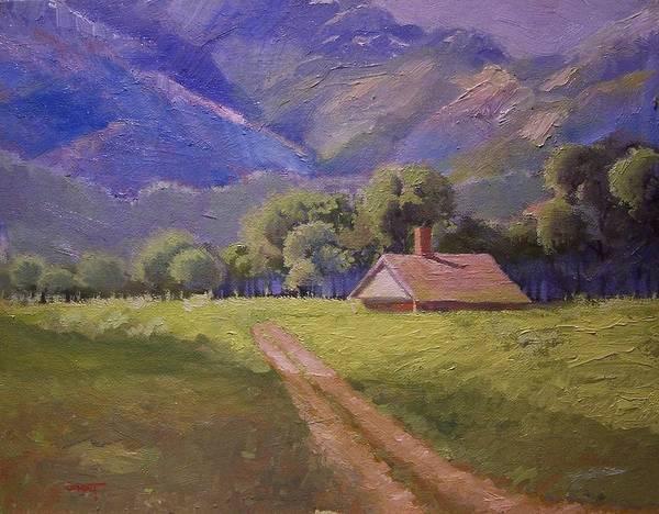 Sand Creek Painting - Mountain Farmhouse by Dan Smart