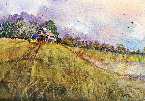 Painting - Mountain Fields by Barry Jones