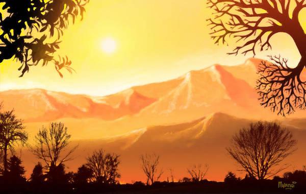 Summertime Digital Art - Mountain Gold by Anthony Mwangi
