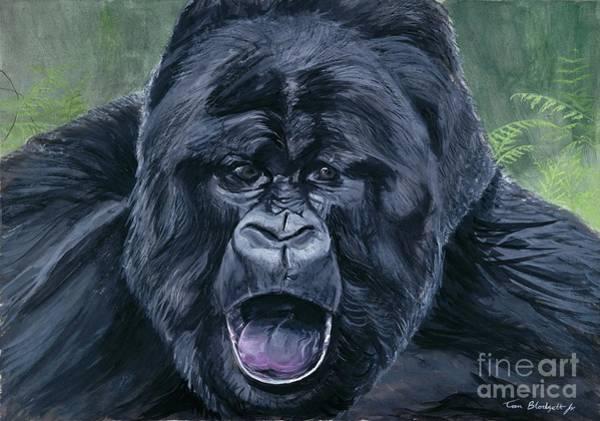 Gorilla Painting - Mountain Gorilla by Tom Blodgett Jr