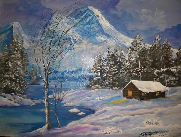 Wall Art - Painting - Mountain Hideaway by Dave Farrow