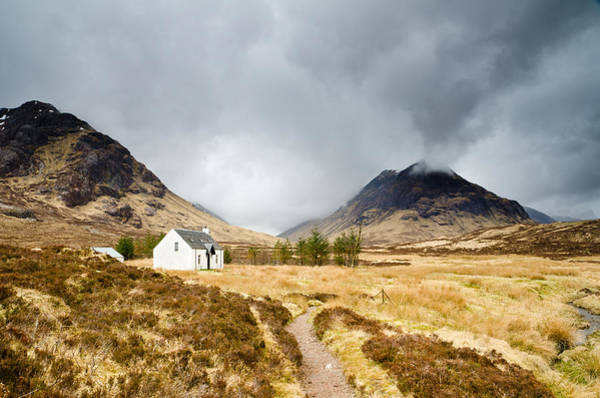 Mountain Hut In Glen Coe Art Print