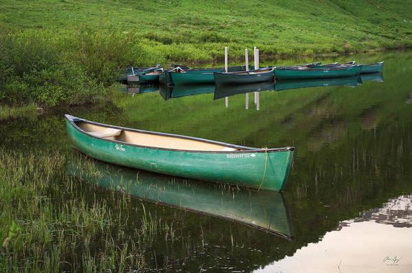 Wall Art - Photograph - Mountain Lake Canoe by Aaron Spong