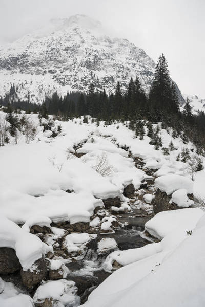 Photograph - Mountain Landscape With A River In The Alps In Winter by Matthias Hauser