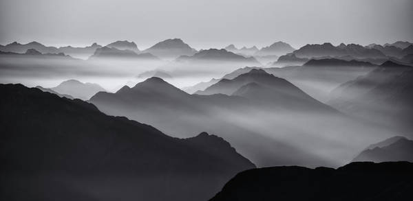Layer Wall Art - Photograph - Mountain Layers by Ales Krivec