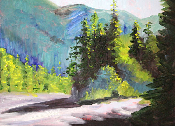 Mountain Range Painting - Mountain Light by Nancy Merkle