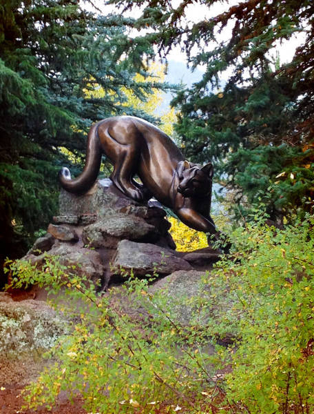 Lion Statue Wall Art - Photograph - Mountain Lion Sculpture by Patricia Lintner