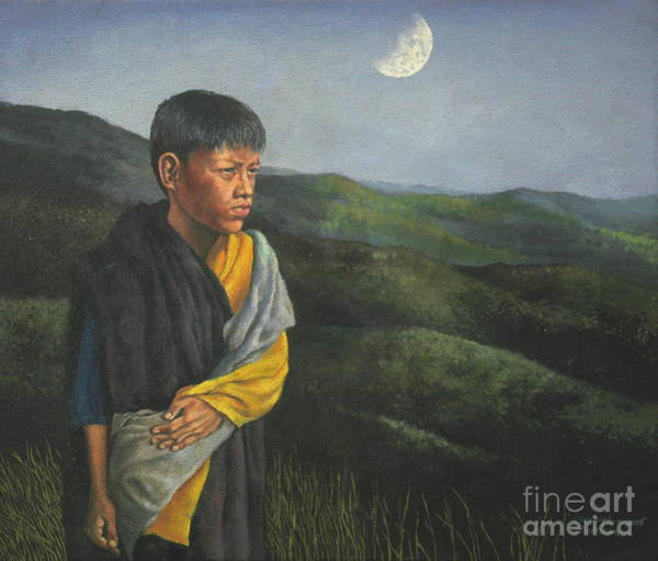 Painting - Young Mountain Man by Christopher Shellhammer