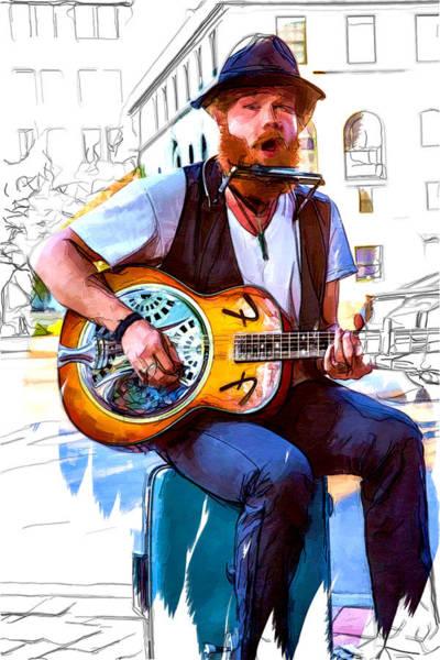 Asheville Mixed Media - Mountain Man Music by John Haldane