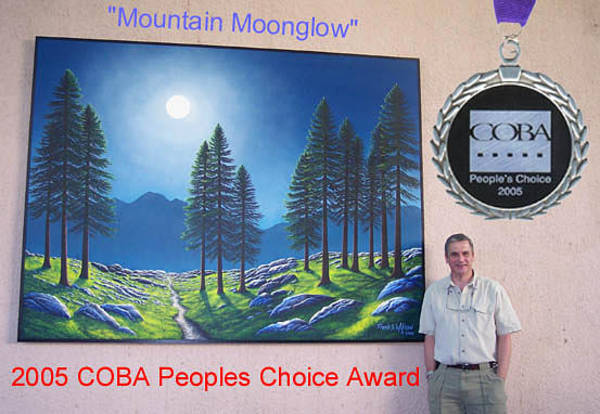 Painting - Mountain Moonglow Mural by Frank Wilson