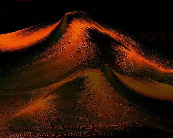 Digital Art - Mountain Of Fire by rd Erickson