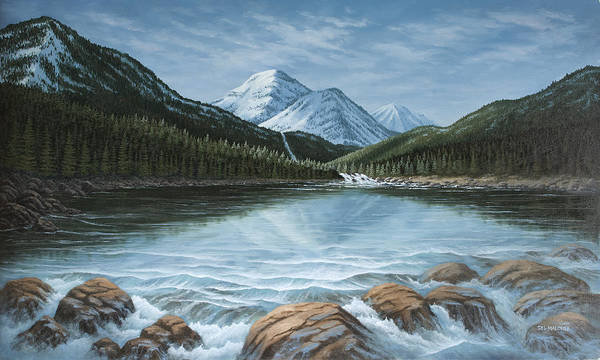 Painting - Mountain Paradise by Del Malonee