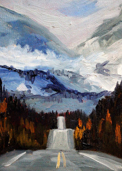 Wall Art - Painting - Mountain Pass by Nancy Merkle