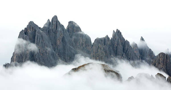Wall Art - Photograph - Mountain Peaks And Fog by Werner Van Steen