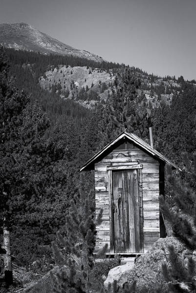 Wall Art - Photograph - Mountain Privy Bw by Julie Magers Soulen