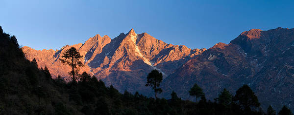 Wall Art - Photograph - Mountain Range, Gonglha Peak by Panoramic Images