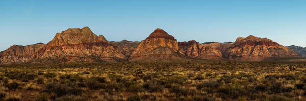 Wall Art - Photograph - Mountain Range In Red Rock Canyon Nevada by Susan Schmitz