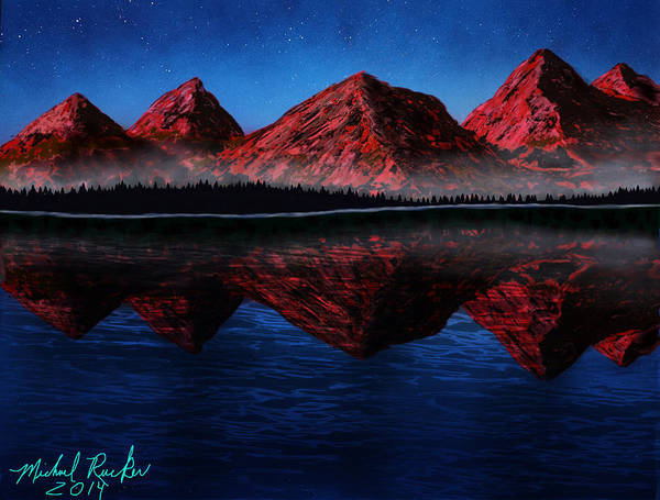 Ocean Wall Art - Painting - Mountain Range by Michael Rucker