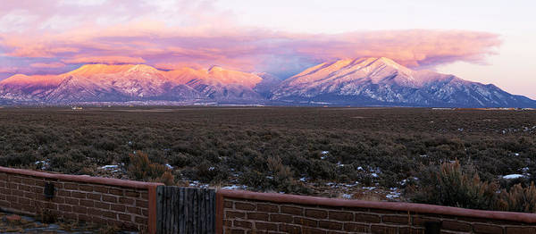 Sangre De Cristo Photograph - Mountain Range Viewed From A Adobe by Panoramic Images