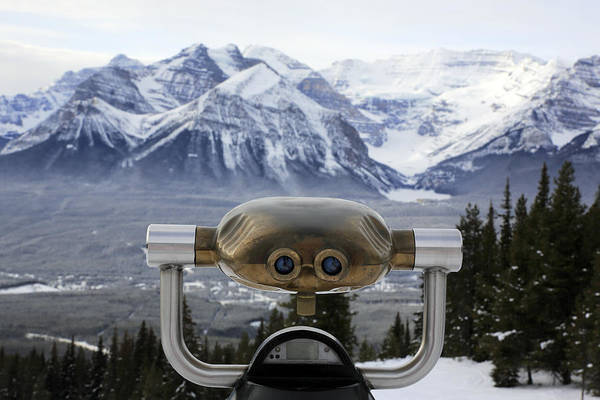 Binoculars Photograph - Mountain Ranges In Lake Louise by Bruce Yuanyue Bi