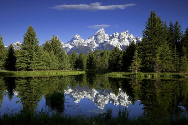 Teton Photograph - Mountain Reflections by Andrew Soundarajan
