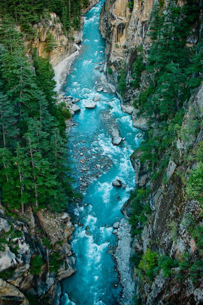 Mountain River Ganga In Valley Himalayas India Art Print