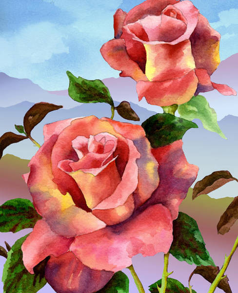 Painting - Mountain Roses by Anne Gifford