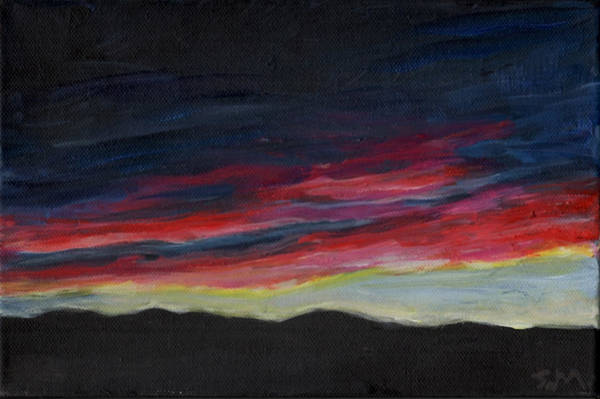 Painting - Mountain Silhouette by Susan Moore