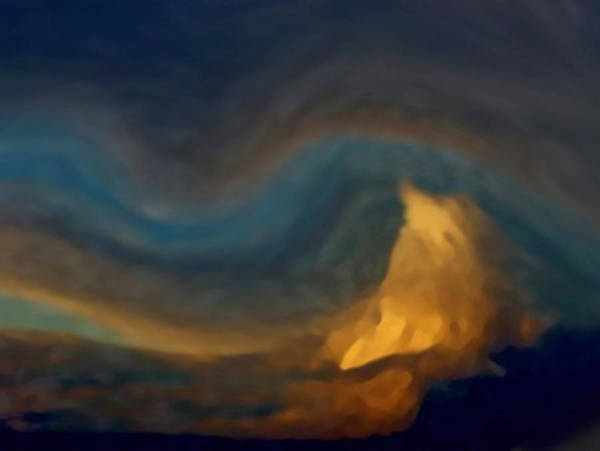 Painting - Mountain Storm Approaching by Dennis Buckman