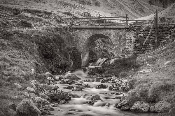 Photograph - Mountain Stream With Bridge by Roberto Pagani